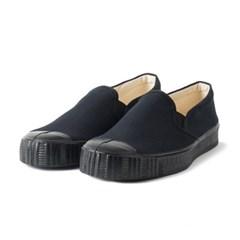 Fern Shoes Army Slipon Black Canvas/Black