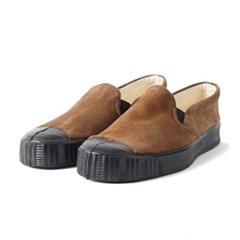 Fern Shoes Army Slipon Brown Suade/Black