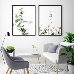 인테리어 식물 그림 액자 캔버스 10호_(1331194)