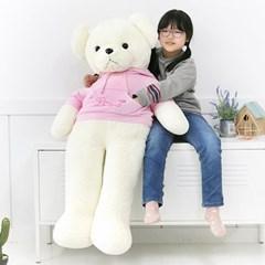 러블리 후드 베어 인형-핑크(150cm)