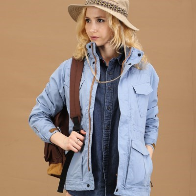 [덕마운트] 아웃도어 여자 봄/가을 사파리 자켓 BABI - L.BLUE