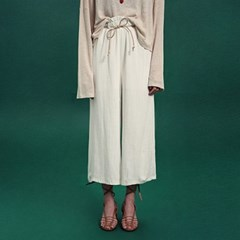 [딘스] ROBE BANDING WIDE PANTS_BEIGE
