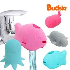 [버드시아] 실리콘 욕조 수도꼭지 안전커버+목욕장난감세트(3개입)