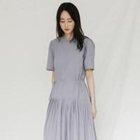 [치즈달] 플리츠 롱 드레스