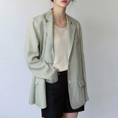 Over fit linen jacket