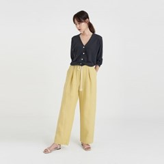 nacre linen cropped cardigan (4colors)