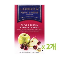 런던프룻 애플 체리 20티백 2개묶음_(676337)