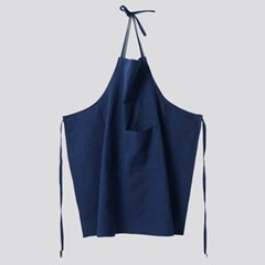 APRON-WASHED LINEN, NAVY