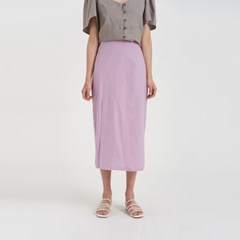 one slit linen skirt (5colors)