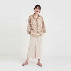 leaf thin blouse (2colors)