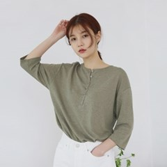 Simple linen sleeve tee