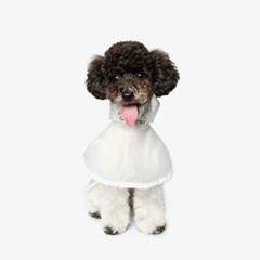 강아지 우비 비옷 - 화이트