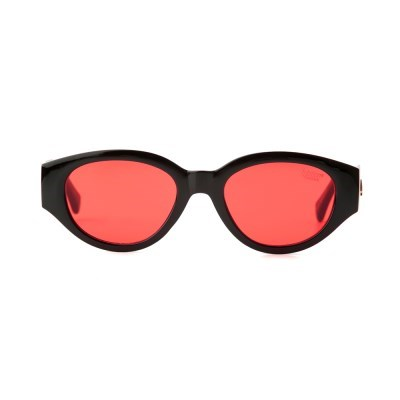 D.fox Original Glossy Black / Red Tint Lens