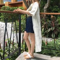 simple linen check robe_(976951)