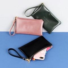 프롬유 이니셜 핸드폰 지갑 파우치+스트랩 SET