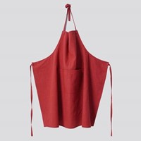 APRON-WASHED LINEN, RED