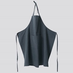 APRON-WASHED LINEN, GREY