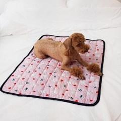 강아지쿨매트 인견매트(대)- 핑크토끼