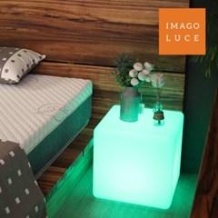 이마고루체 LED의자 테이블 큐브 인테리어조명 충전식