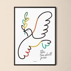 유니크 인테리어 디자인 포스터 M 이 또한 지나가리라2 드로잉