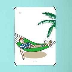 유니크 인테리어 디자인 포스터 M 쉼