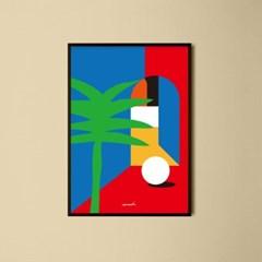 유니크 인테리어 디자인 포스터 M 외출