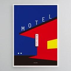 유니크 인테리어 디자인 포스터 M 모텔