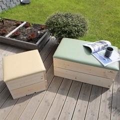 원목 쿠션벤치 화장대 의자 장난감정리함 수납박스 공간