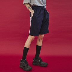 two line training half pants (4 color) - UNISEX_(978720)