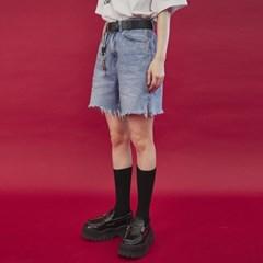 slit denim half pants_(978671)