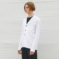 LINEN SPAN SHIRTS JACKET WHITE