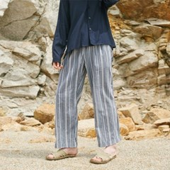 MULTI ST WASHING WIDE PANTS BLUE