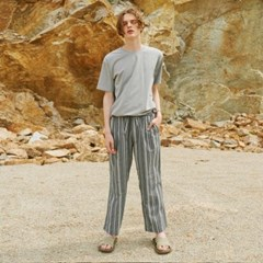 MULTI ST WASHING WIDE PANTS GREY