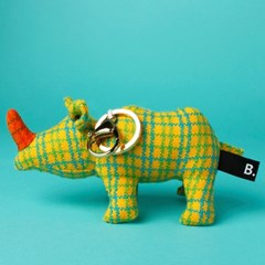gold green_rhino_keyring