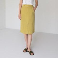 simply linen banding skirt