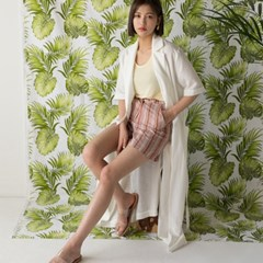 clean linen strap robe