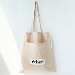 [ether] 버킷 에코백 + 파우치 세트(2color)