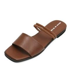 kami et muse Slim elastic double strap flat slippers_KM18s291