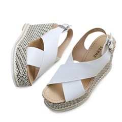 kami et muse Wide cross strap platform wedge sandals_KM18s290