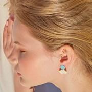 Little Mermaid Small Earring (Milk)