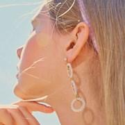 Ice Bubble Unbalance Earring (White)