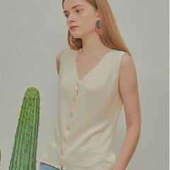 BEAN VEST SLEEVELESS_IVORY