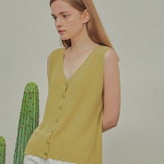 BEAN VEST SLEEVELESS_YELLOW GREEN