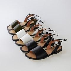 square line open toe sandal
