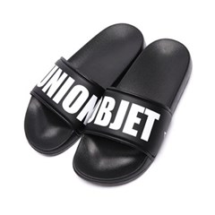 UNION BIG LOGO SLIPPER - BLACK_(979240)
