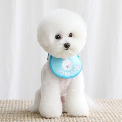 smile bebe scarf bib (blue)