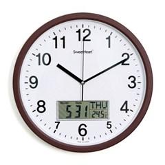 무소음카렌다벽시계350_브라운