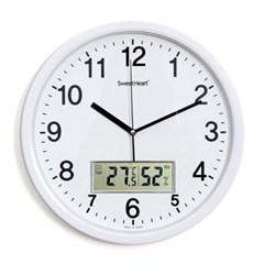 무소음온습도벽시계350_화이트