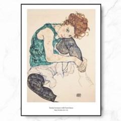 에곤 쉴레 인테리어 그림 액자 포스터 여인_(1367717)