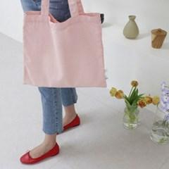무지 린넨 에코백 / pink